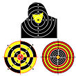 Exercise Set Targets For Practical Pistol Shooting, Exercise. - stock vector