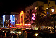 America Southbeach at Night, Miami, FL USA - stock image