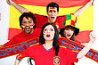 Spanish Football Fans stock photo