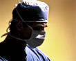 Surgeon with Surgical Mask stock image