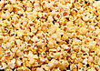 Texture Of Caramel Popcorn. Close-up View stock photo