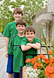 Three Brothers in Green stock image