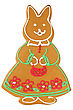 Decorated Traditional Handmade Baked Easter Or Christmas Rabbit stock photography