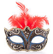 Italy Venetian Carnival Mask Isolated On White Background Cutout stock photography