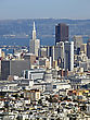 Stock Photo : Downtown Stock Photo: View Of Downtown San Francisco Showing Hi-risers In The Financial District And Also The Dome Of The Civic Center Building