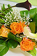 Stock Photo : Married Stock Photography: Wedding Bunch Of Flowers Closeup At Table